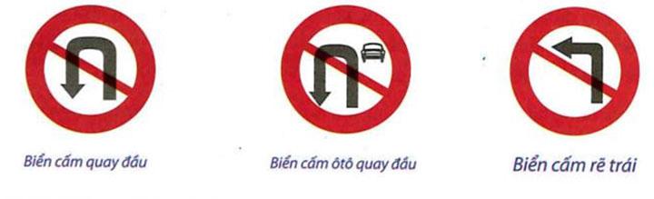 Những trường hợp không được phép quay đầu xe: